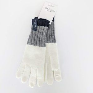 NWT Calvin Klein Knit White Gloves Text Enabled